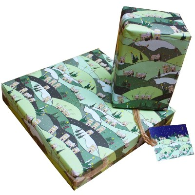 Re-wrapped: ECO Friendly Xmas Wrapping Paper Christmas Magic by Emily Chapman made from 100% Unbleached Recycled Paper
