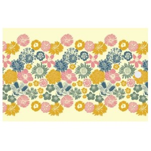 Re-wrapped: ECO Friendly Wrapping Paper Tags Cottage Garden by Kate Heiss made from 100% Unbleached Recycled Paper
