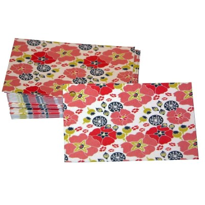 Re-wrapped: ECO Friendly Wrapping Paper Tags Hollyhocks by Kate Heiss made from 100% Unbleached Recycled Paper