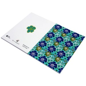 Re-wrapped: ECO Friendly Notebooks Tropical by Kate Heiss made from 100% Unbleached Recycled Paper