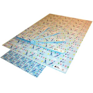 Re-wrapped: ECO Friendly Wrapping Paper Bunting by Vicky Scott made from 100% Unbleached Recycled Paper