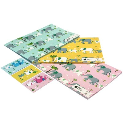 Re-wrapped: ECO Friendly Wrapping Paper Children's Baby Elephant Bundle by Vicky Scott made from 100% Unbleached Recycled Paper