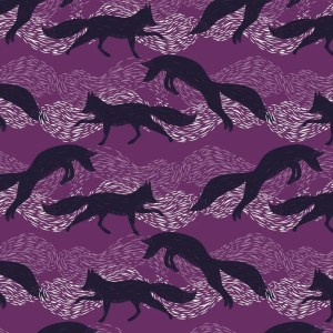 Re-wrapped: ECO Friendly Birthday Wrapping Paper Leaping Foxes by Rosie Parkinson made from 100% Unbleached Recycled Paper