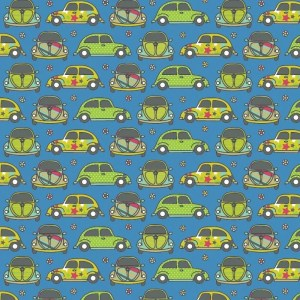 Re-wrapped: ECO Friendly Birthday Wrapping Paper Volkswagen Beatles by Rosie Parkinson made from 100% Unbleached Recycled Paper