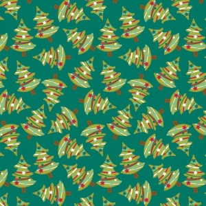 Re-wrapped: ECO Friendly Wrapping Paper Christmas Trees by Rosie Parkinson made from 100% Unbleached Recycled Paper