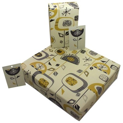 Re-wrapped: ECO Friendly Wrapping Paper Retro Lights and TVs by Rosie Parkinson made from 100% Unbleached Recycled Paper