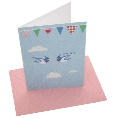 Re-wrapped: ECO Friendly Birthday Wrapping Paper Bunting Greetings Card by Vicky Scott made from 100% Unbleached Recycled Card