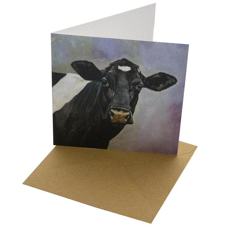 Re-wrapped: ECO Friendly Birthday Wrapping Paper Oil Friesian Greetings Card by Sophie Botsford made from 100% Unbleached Recycled Card