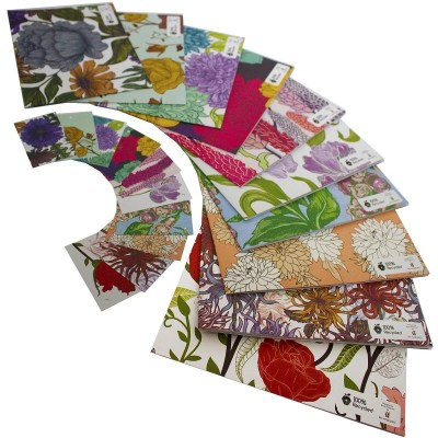 Re-wrapped: ECO Friendly Wrapping Paper Floral Large Pack by Rosie Parkinson made from 100% Unbleached Recycled Paper