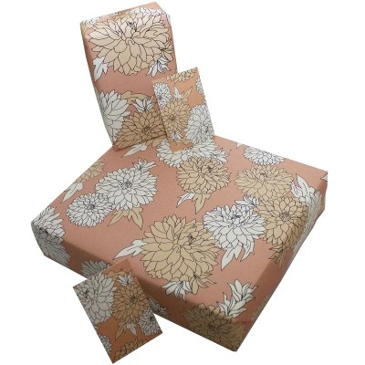 Re-wrapped: ECO Friendly Wrapping Paper Petals by Rosie Parkinson made from 100% Unbleached Recycled Paper