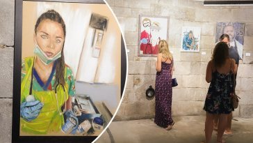 Retratos de nuestros trabajadores de primera línea exposicion Gibraltar GEMA Davina Barbara