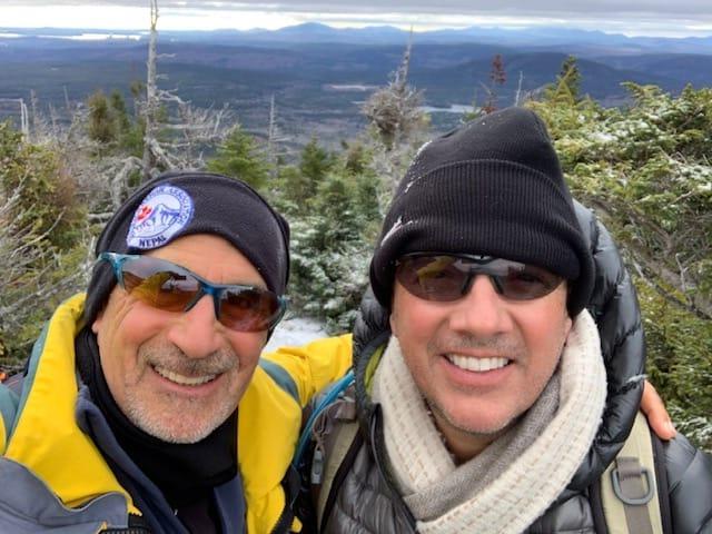 Ted and John on the mountain Katahdin