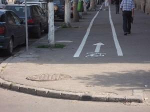 borduri netesite in calea biciclistilor
