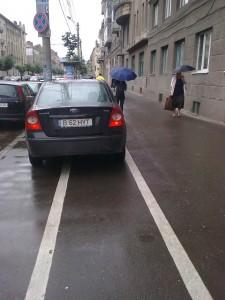 parcare pe pistele de biciclete