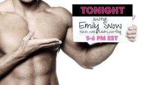 TONIGHT! Emily Snow takes over our Facebook page….