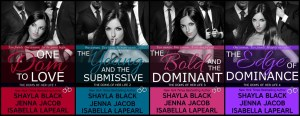 Doms of Her Life by Shalya Black, Jenna Jacob and Isabella LaPearl…Book Relaunch