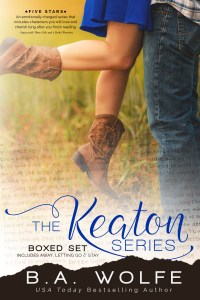 The Keaton Series Boxed Set by B.A. Wolfe…Release Day Event