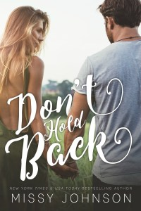 Don't Hold Back by Missy Johnson…Release Blitz