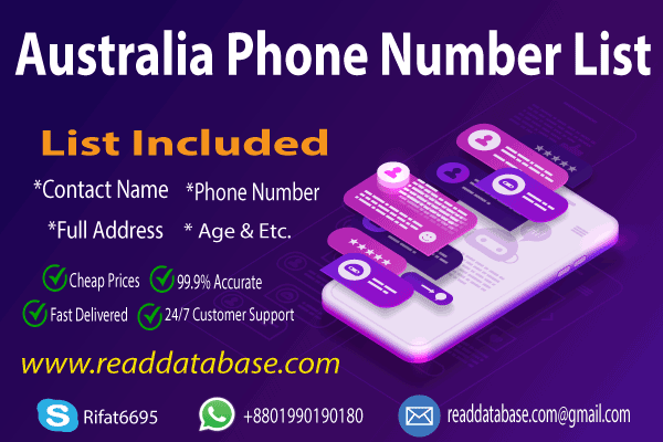Australia Mobile Number Database