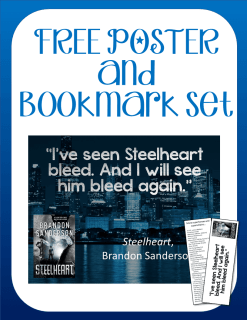 Free Steelheart quotation poster and readalike bookmark set