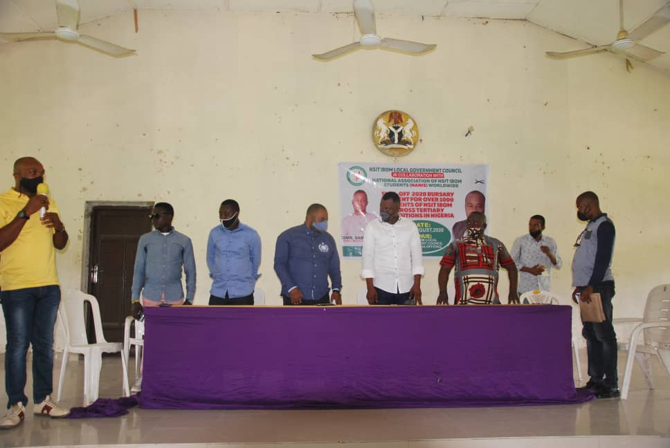 IMG 20200814 WA0038 Nsit Ibom Council Boss Begins Disbursement of Bursary for Students