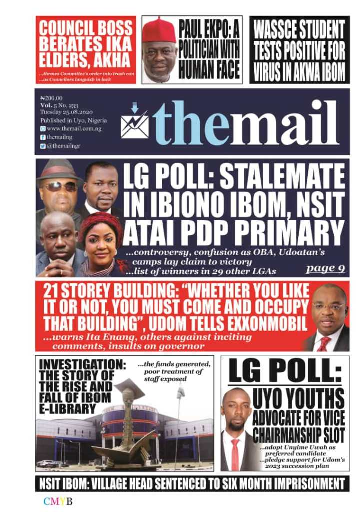 IMG 20200825 WA0025 Top Akwa Ibom Newspaper Headlines For Today Tuesday August 25, 2020