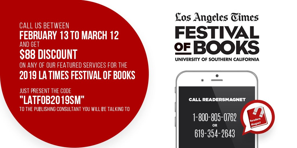 READERSMAGNET INVITES AUTHORS TO JOIN L.A. TIMES BOOK FAIR
