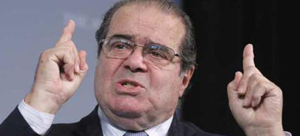 Supreme Court Justice Antonin Scalia speaks to a policy forum in Washington last month. (photo: Manuel Balce Ceneta/AP)