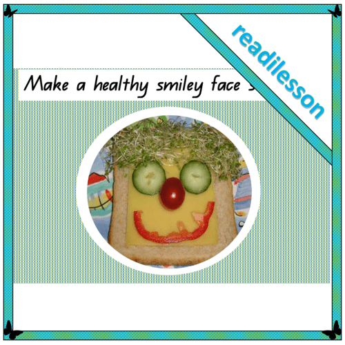 How to make a healthy smiley face sandwich