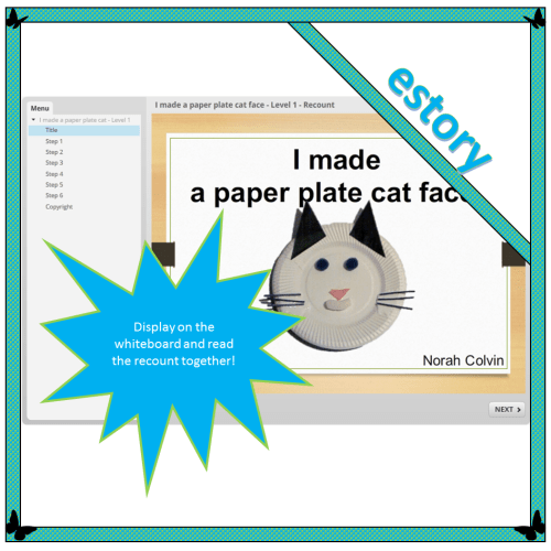 I made a paper plate cat face – Level 1 – Recount