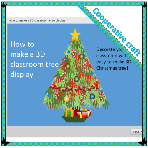 How to make a 3D classroom tree display