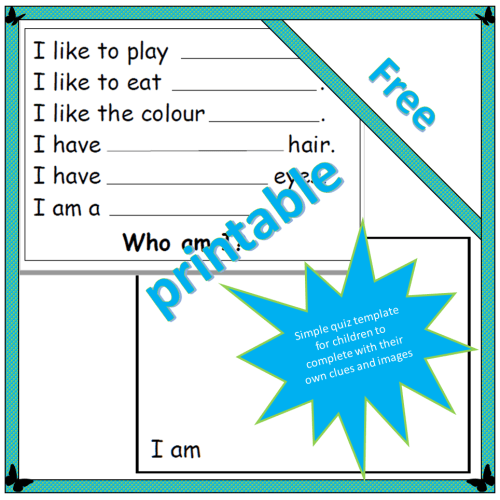 Who am I? puzzle sheet