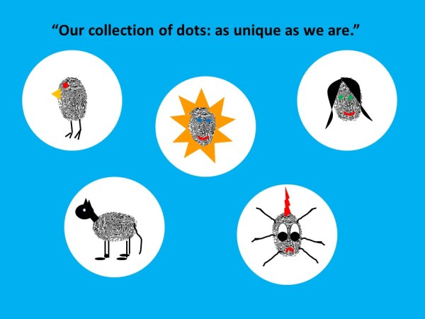 collection of dotty creatures