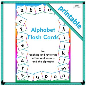 printable flash cards for teaching letters and sounds and the alphabet