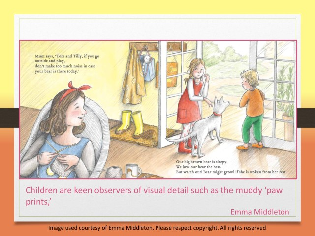 keen observers find many clues Emma Middleton's picture book The Bear in our Backyard