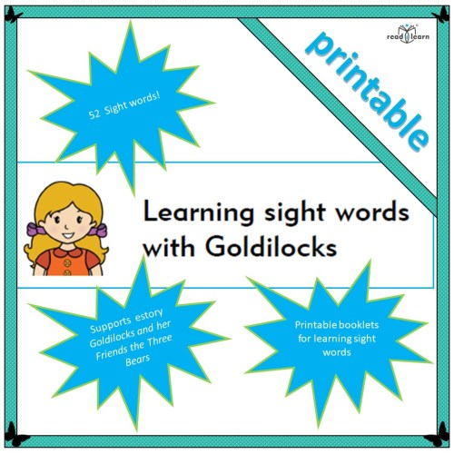 Goldilocks sight words 52 high-frequency words to learn in context
