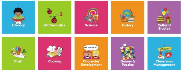 readilearn lower primary categories or subject areas