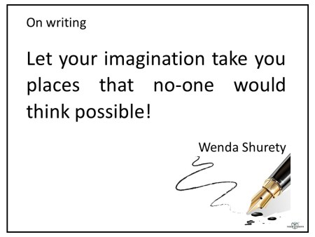 author Wenda Shurety's advice for children about writing