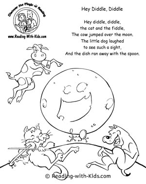 nursery rhymes coloring pages # 7
