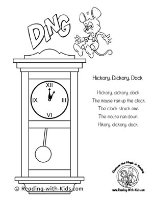 nursery rhyme coloring pages # 3