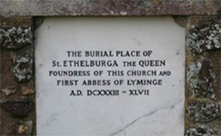 Dedication stone of Lyminge Abbey
