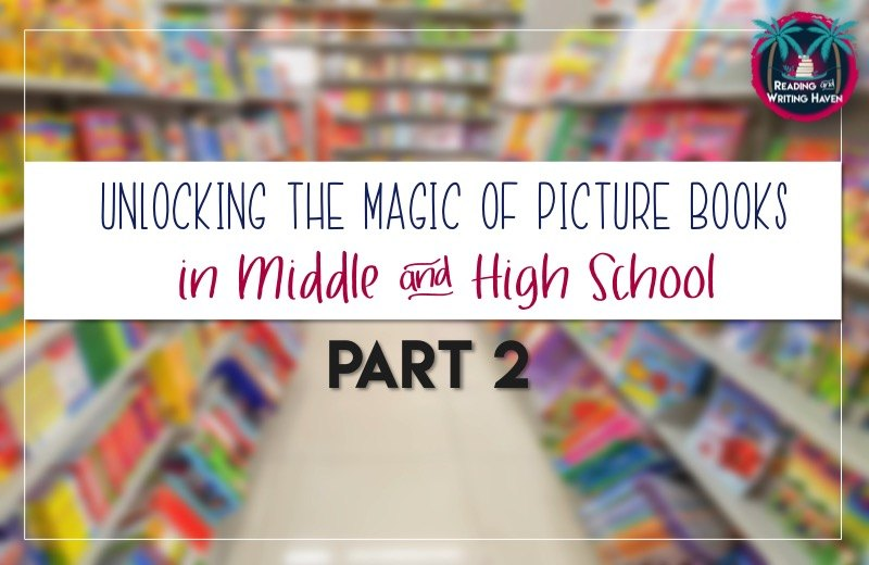 Using children's literature in secondary English classes is a great way to show students how powerful literary devices and punctuation can be. Here are some practical ideas for how to use three picture books in your middle or high school English classroom today.