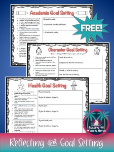 Meaningful reflection and goal setting freebie for secondary education teachers from Reading and Writing Haven
