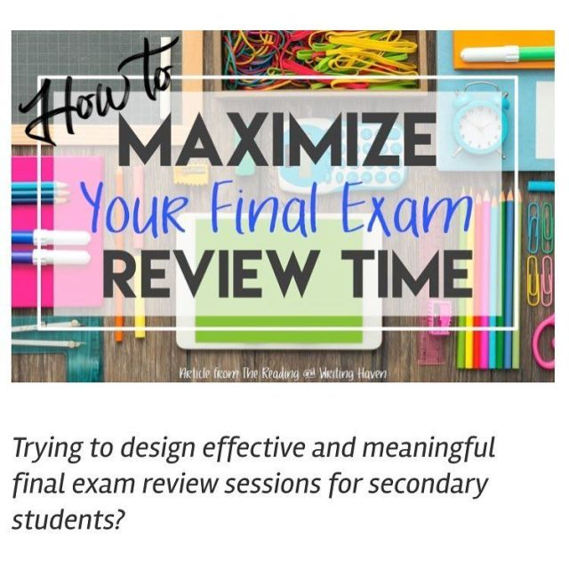 Meaningful approaches to final exam review sessionslink in profile teachersofinstagramhellip