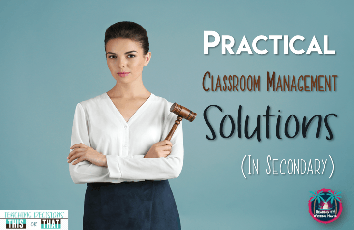 Classroom management issues in the secondary classroom? Simplify big issues with simple solutions. Read about different approaches to five of the most important classroom management issues in middle and high school.
