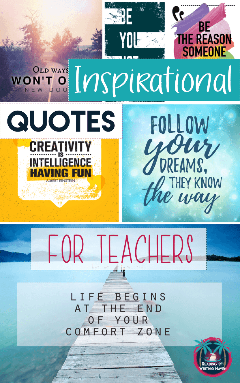 Inspirational Teaching Quotes Impressive Inspirational Quotes For Teachers  The Reading And Writing Haven