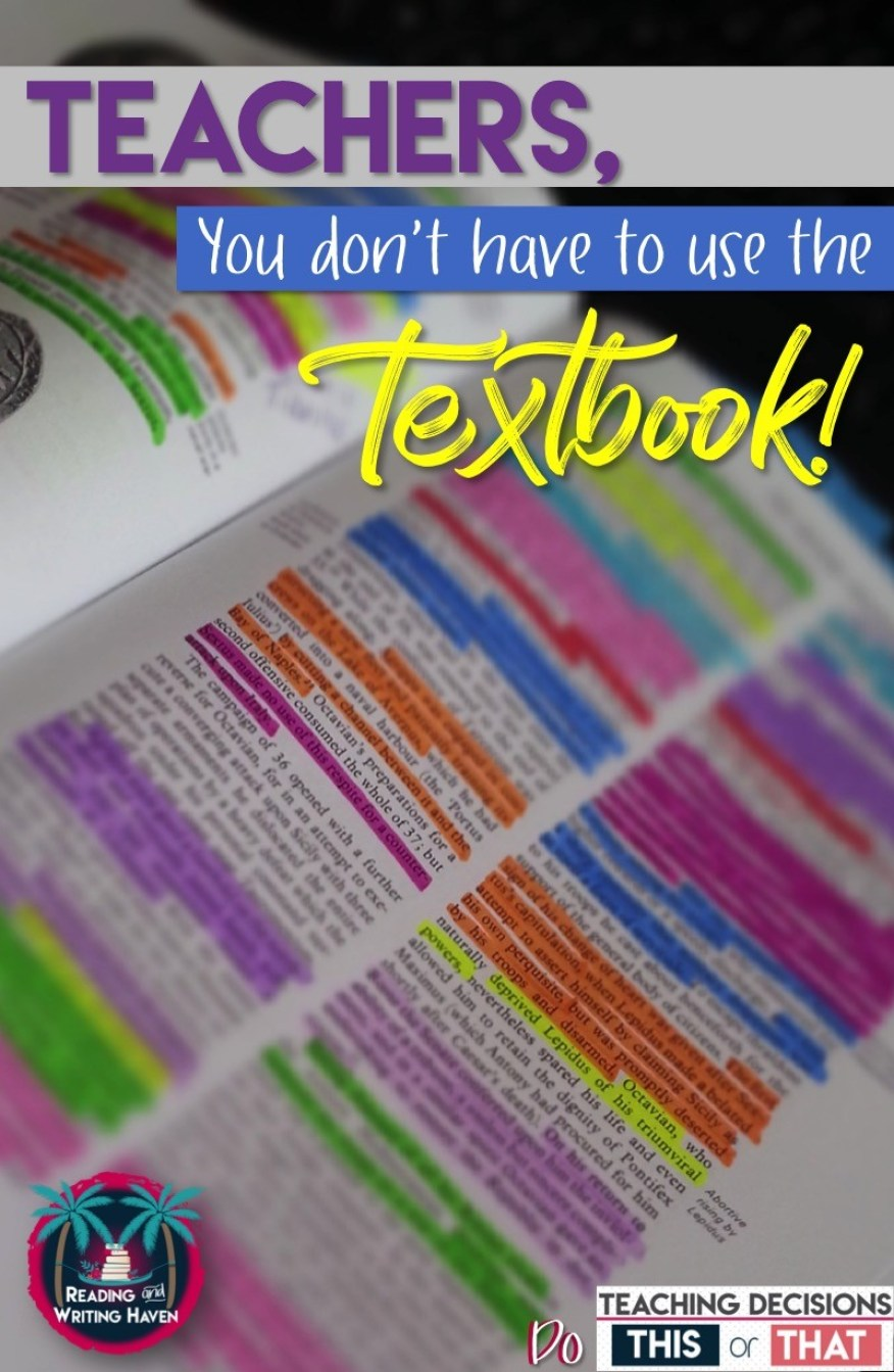 Do teachers need to use a textbook? While they can be a nice frame of reference, textbooks are more restricting than they are beneficial. In this post, read about why it's okay to abandon the textbook.