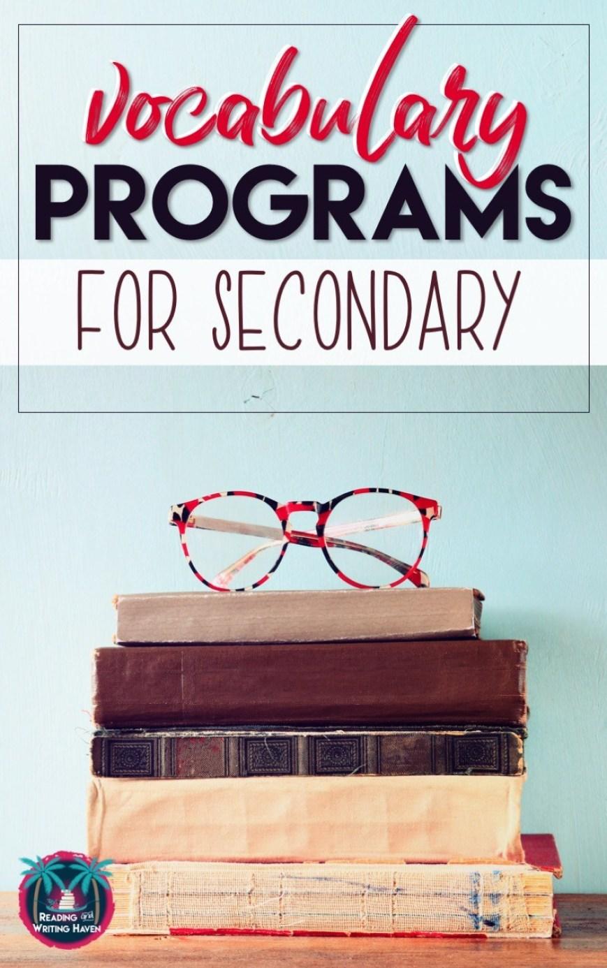 Choosing a vocabulary program for middle or high school English Language Arts? These four programs are worth consideration. #vocabularyprogram #secondaryELA