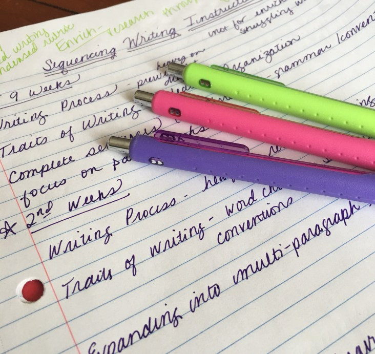 How to sequence writing instruction in high school ELA