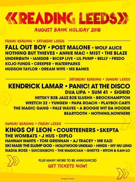 2018 line up